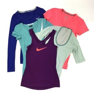 Nike Women's LOT OF 5 Tanks Tops XS